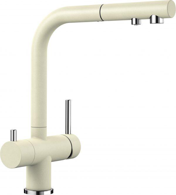 Blanco Fontas Ii S 525202 Eenhendel Keukenkraan Met Filtersysteem Silgranit Look Jasmijn Met Uittrekbare Handdouche