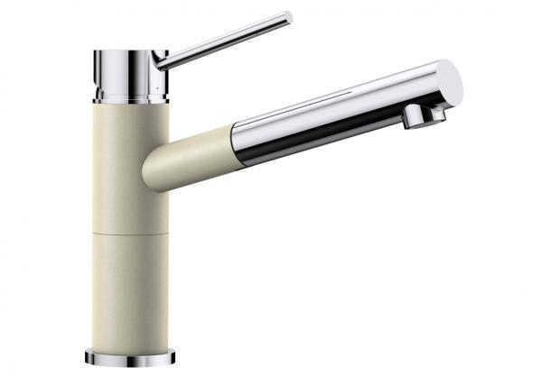 Blanco Alta-S Compact 515328 Eenhendel Keukenkraan Met Uittrekbare Handdouche Silgranit Look Jasmijn