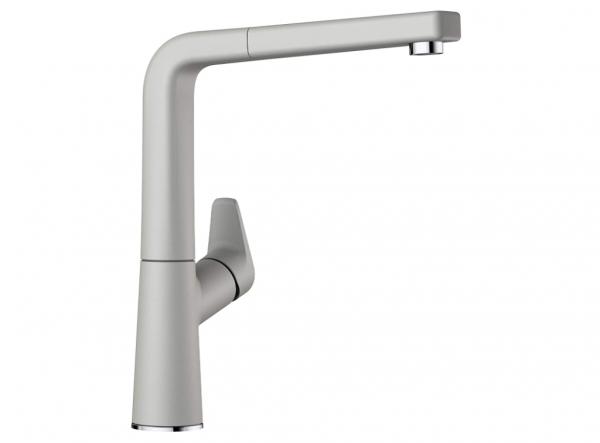 Blanco Avona-S 521286 Eenhendel Keukenkraan Met Uittrekbare Handdouche Silgranit Look Parelgrijs