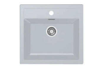 Franke Tectonite Sirius Sid 610.50 Th Polar White Spoelbak 114.0568.052 Graniet Look Opbouw