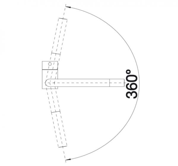 Blanco Linus 526149 Eenhendel Keukenkraan Silgranit Zwart Nieuwste Collectie Black Line