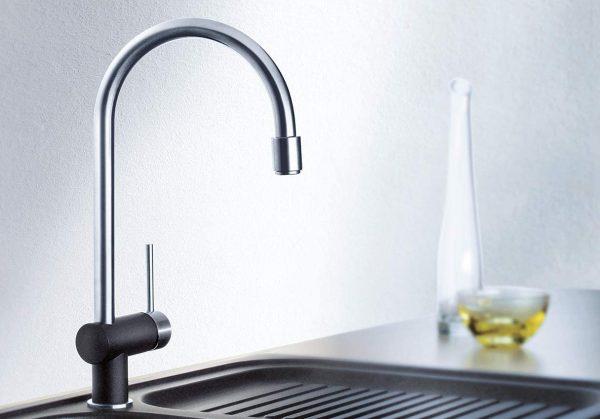 Blanco Filo-S 520742 Eenhendel Keukenkraan Met Uittrekbare Handdouche Silgranit Look Parelgrijs