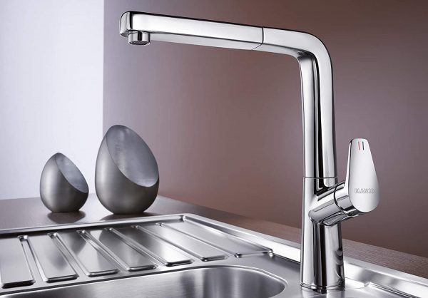 Blanco Avona-S 521277 Eenhendel Keukenkraan Met Uittrekbare Handdouche Chroom