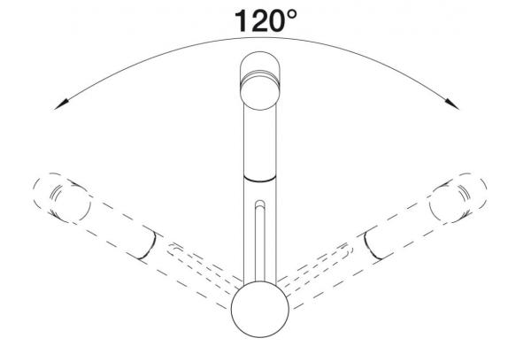 Blanco Tivo-S-F 518411 Eenhendel Keukenkraan Met Uittrekbare Handdouche Voor Venstermontage Voor Lage Druk Chroom