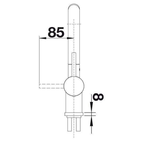 Blanco Linus-S 526148 Eenhendel Keukenkraan Silgranit Zwart Met Uittrekbare Handdouche Nieuwste Collectie Black Line