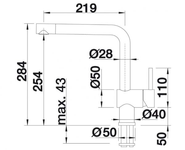 Blanco Linus-F 514277 Eenhendel Keukenkraan Voor Raammontage Voor Lage Druk Chroom