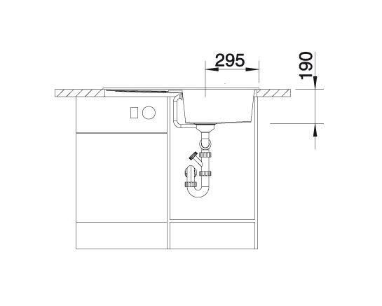 Blanco Metra 5 S 513037 Spoelbak Silgranit Wit Inclusief Draaiknopbediening Omkeerbaar Onderbouw Of Opbouw