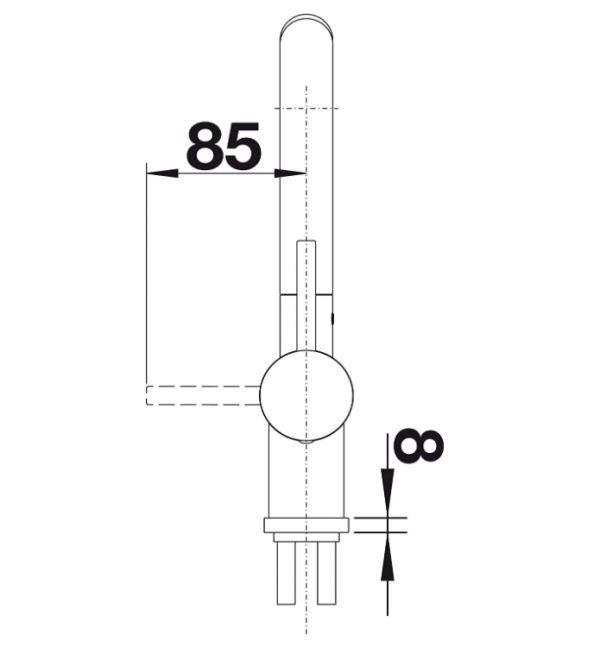 Blanco Linus-S 517184 Eenhendel Keukenkraan Met Uittrekbare Handdouche Volledig Rvs