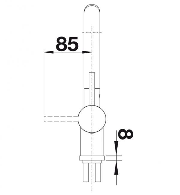 Blanco Linus-S 512202 Eenhendel Keukenkraan Met Uittrekbare Handdouche Voor Lage Druk Volledig Rvs