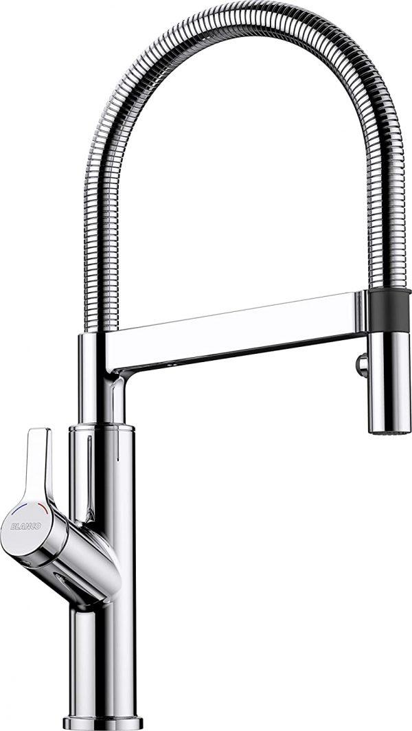 Blanco Solenta-S 523126 Eenhendel Keukenkraan Chroom Senso Bedieningshendel Links Met Uittrekbare Handdouche