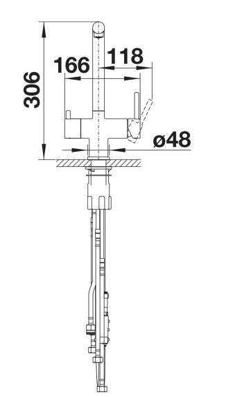 Blanco Fontas Ii S 525198 Eenhendel Keukenkraan Met Filtersysteem Chroom Met Uittrekbare Handdouche