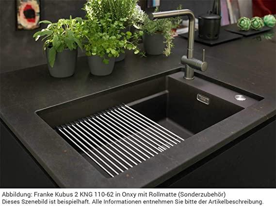 Franke Spoelbak Fragranite Kng 110-62 Onyx 125.0512.515 Onderbouw Spoelbak