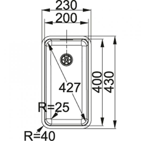 Franke Kubus Kbx 210.20 Spoelbak 112.0055.004 Inbouw Of Opbouw Spoelbak