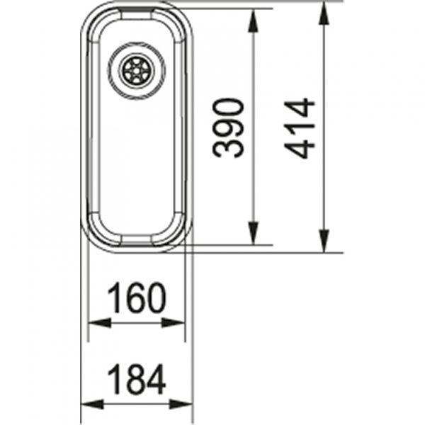 Franke Largo Lax 110-16 D Rvs Spoelbak 112.0157.550 Onderbouw Spoelbak