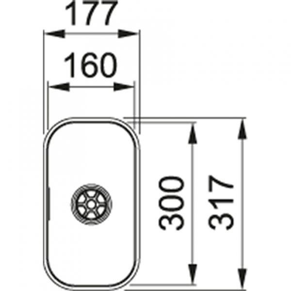Franke Largo Lax 110-16 Rvs Spoelbak 112.0157.551 Onderbouw Spoelbak