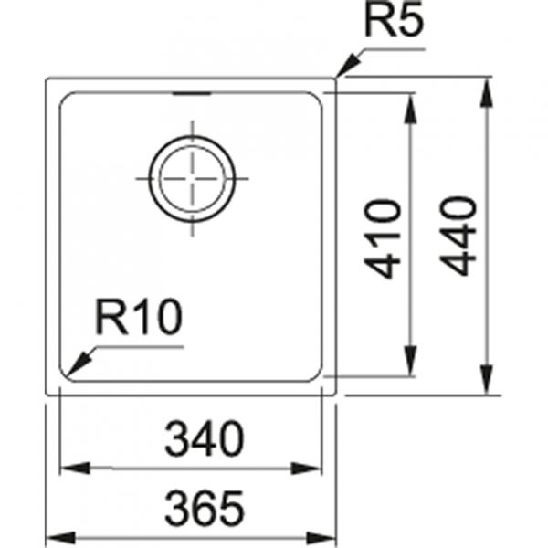 Franke Spoelbak Tectonite Sirius Sid 110.34 Polar White 125.0252.229 Graniet Look Onderbouw Spoelbak