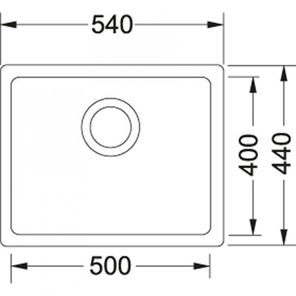 Franke Spoelbak Fragranite Kbg 110.50 Onyx 125.0176.636 Onderbouw Spoelbak