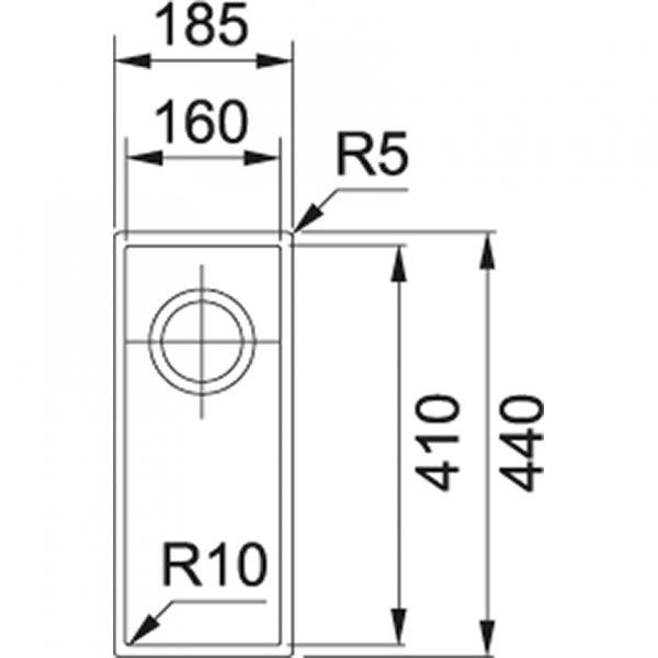 Franke Spoelbak Tectonite Sirius Sid 110.16 Polar White 125.0252.233 Graniet Look Onderbouw Spoelbak