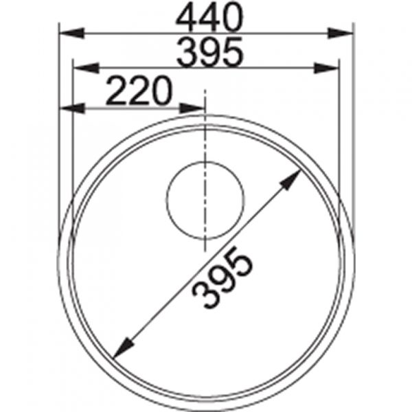 Franke Rondo Rox 210-100 1 1/2 Rvs Spoelbak 127.0032.920 Vlakbous - Opbouw Spoelbak
