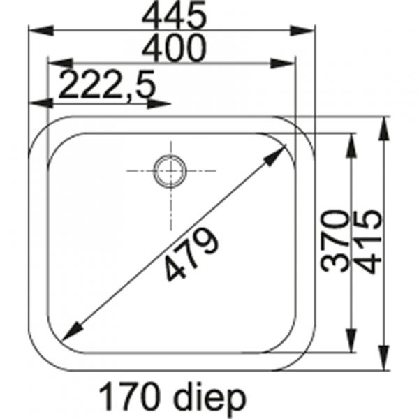 Franke Quadrant Qax 210 Rvs Spoelbak 127.0032.953 Inbouw - Opbouw Spoelbak
