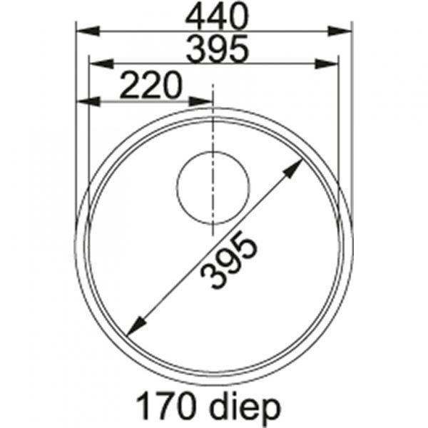 Franke Rondo Rox 210 Rvs Spoelbak 127.0050.186 Inbouw Spoelbak
