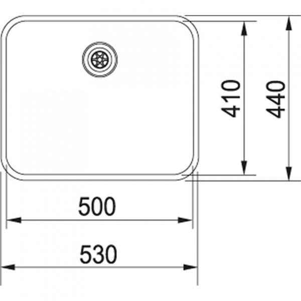 Franke Largo Lax 210-50 Spoelbak Rvs 127.0319.063 Inbouw Of Opbouw Spoelbak