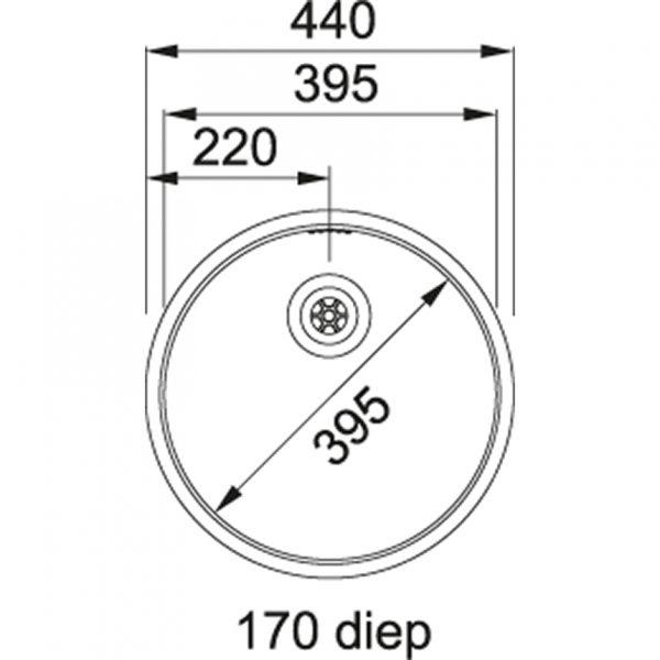 Franke Rondo Rtx 210 Rvs Spoelbak 127.0455.174 Inbouw - Opbouw Spoelbak