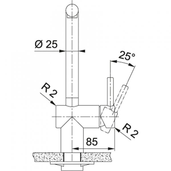 Franke Atlas Black Steel Keukenkraan 115.0550.427 Met Uittrekbare Handdouche