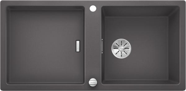Blanco Adon Xl 6 S 525348 Spoelbak Silgranit Rotsgrijs Inclusief Draaiknopbediening Omkeerbaar Opbouw