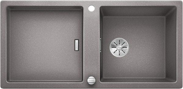Blanco Adon Xl 6 S 525349 Spoelbak Silgranit Aluminium Metallic Inclusief Draaiknopbediening Omkeerbaar Opbouw
