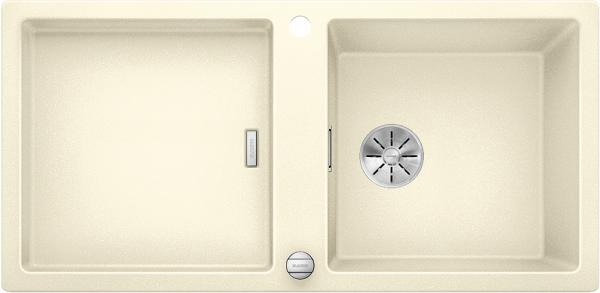 Blanco Adon Xl 6 S 525344 Spoelbak Silgranit Jasmijn Inclusief Draaiknopbediening Omkeerbaar Opbouw