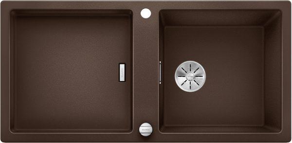 Blanco Adon Xl 6 S 525351 Spoelbak Silgranit Café Inclusief Draaiknopbediening Omkeerbaar Opbouw