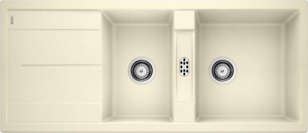 Blanco Metra 8 S 513065 Dubbele Spoelbak Silgranit Jasmijn Omkeerbaar Onderbouw Of Opbouw