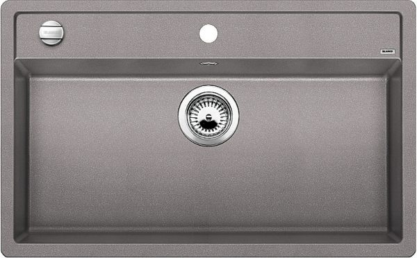 Blanco Dalago 8 516630 Spoelbak Silgranit Aluminium Metallic Inclusief Draaiknopbediening Onderbouw Of Opbouw