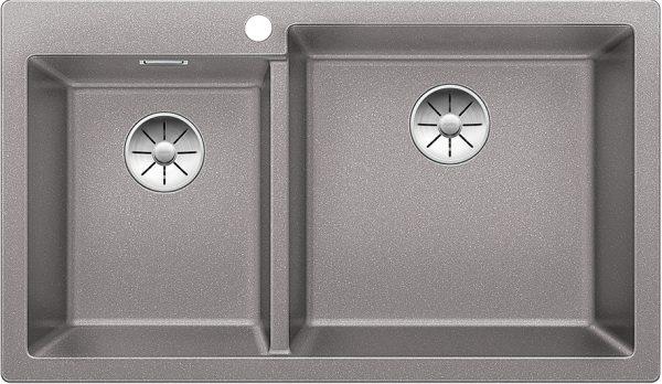 Blanco Pleon 9 523059 Anderhalve Spoelbak Rechts Silgranit Aluminium Metallic Onderbouw Of Opbouw