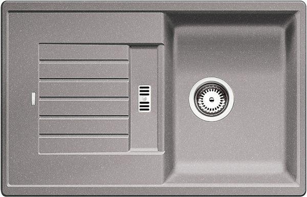 Blanco Zia 45 S 518725 Spoelbak Silgranit Aluminium Metallic Omkeerbaar Onderbouw Of Opbouw