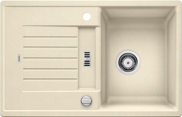 Blanco Zia 45 S 514719 Spoelbak Silgranit Jasmijn Inclusief Draaiknopbediening Omkeerbaar Onderbouw Of Opbouw