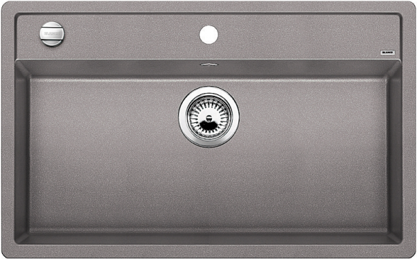 Blanco Dalago 8-F 516640 Spoelbak Silgranit Aluminium Metallic Inclusief Draaiknopbediening Vlakbouw