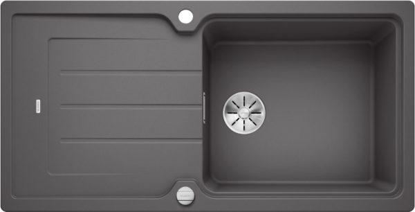 Blanco Classic Neo Xl 6 S 524128 Spoelbak Silgranit Rotsgrijs Inclusief Draaiknopbediening Omkeerbaar Opbouw