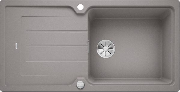 Blanco Classic Neo Xl 6 S 524129 Spoelbak Silgranit Aluminium Metallic Inclusief Draaiknopbediening Omkeerbaar Opbouw