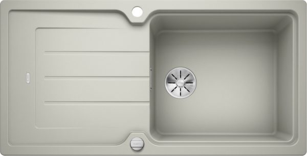 Blanco Classic Neo Xl 6 S 524130 Spoelbak Silgranit Parelgrijs Inclusief Draaiknopbediening Omkeerbaar Opbouw