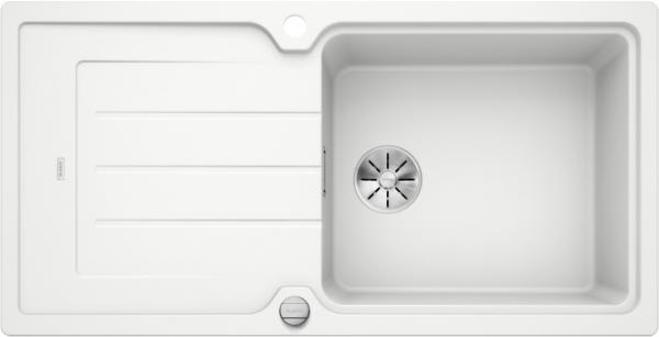 Blanco Classic Neo Xl 6 S 524131 Spoelbak Silgranit Wit Inclusief Draaiknopbediening Omkeerbaar Opbouw