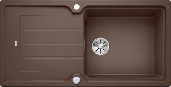 Blanco Classic Neo Xl 6 S 524136 Spoelbak Silgranit Café Inclusief Draaiknopbediening Omkeerbaar Opbouw