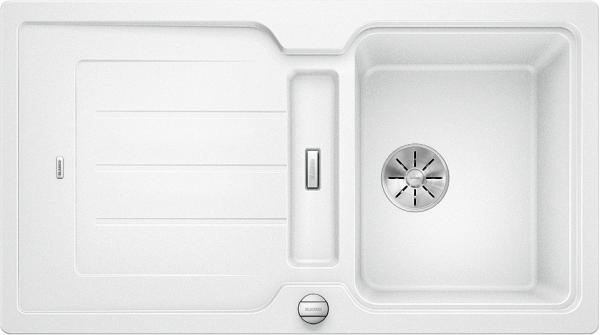 Blanco Classic Neo 5 S 524019 Spoelbak Silgranit Wit Inclusief Draaiknopbediening Inclusief Snijplank Omkeerbaar Opbouw