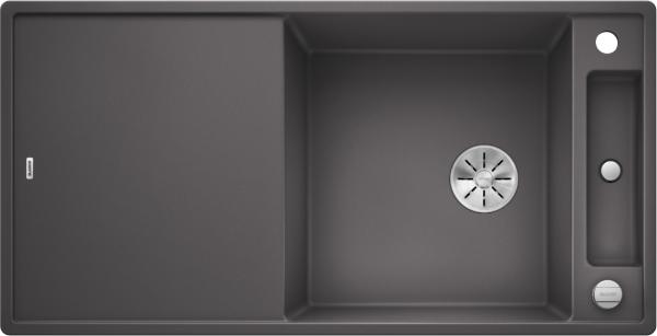 Blanco Axia Iii Xl 6 S 523501 Spoelbak Silgranit Rotsgrijs Inclusief Houten Snijplank Omkeerbaar Onderbouw Of Opbouw