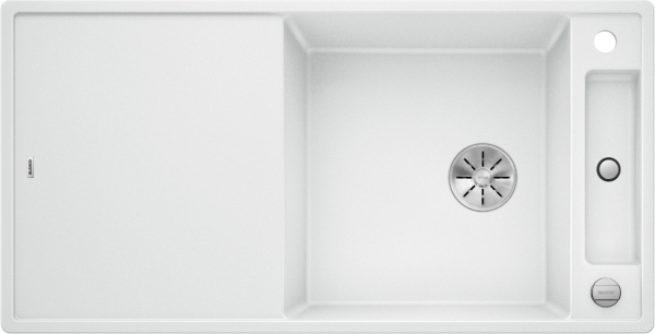 Blanco Axia Iii Xl 6 S 523514 Spoelbak Silgranit Wit Inclusief Glazen Snijplank Omkeerbaar Onderbouw Of Opbouw