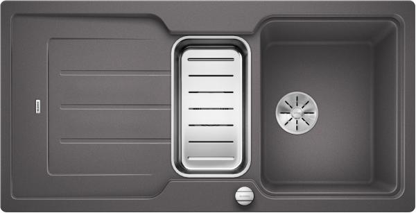 Blanco Classic Neo 6 S 524118 Spoelbak Silgranit Rotsgrijs Inclusief Draaiknopbediening Inclusief Accessoires Omkeerbaar Opbouw