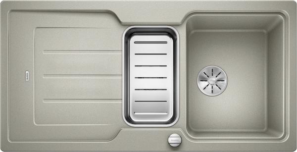 Blanco Classic Neo 6 S 524120 Spoelbak Silgranit Parelgrijs Inclusief Draaiknopbediening Inclusief Accessoires Omkeerbaar Opbouw