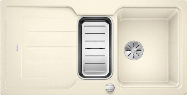 Blanco Classic Neo 6 S 524122 Spoelbak Silgranit Jasmijn Inclusief Draaiknopbediening Inclusief Accessoires Omkeerbaar Opbouw