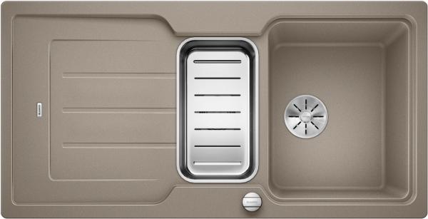 Blanco Classic Neo 6 S 524124 Spoelbak Silgranit Tartufo Inclusief Draaiknopbediening Inclusief Accessoires Omkeerbaar Opbouw
